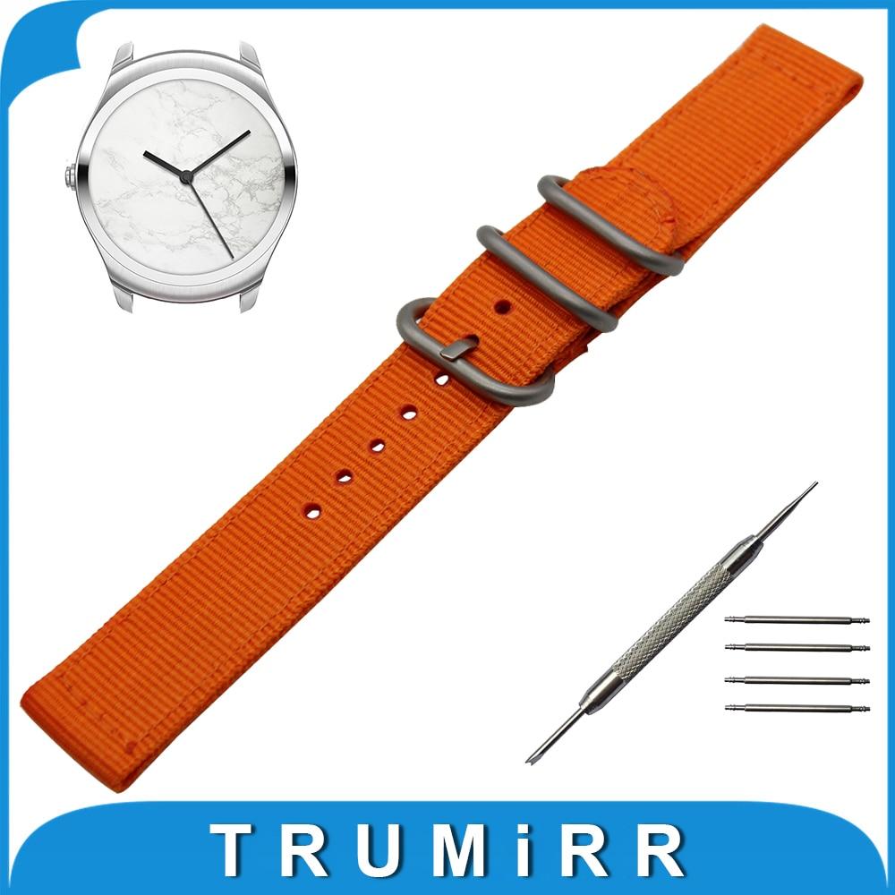 20mm Nylon Watch Band + Tool for Ticwatch 2 42mm Zulu Fabric Strap Wrist Belt Bracelet Black Gray Brown Blue Green Orange fenix hl23 gold
