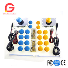 Two Player Arcade Game DIY Parts 2x Zero Delay USB Encoder +2x 5pin 8 Way Joystick + 20x Push ButtonSupport -All Windows System