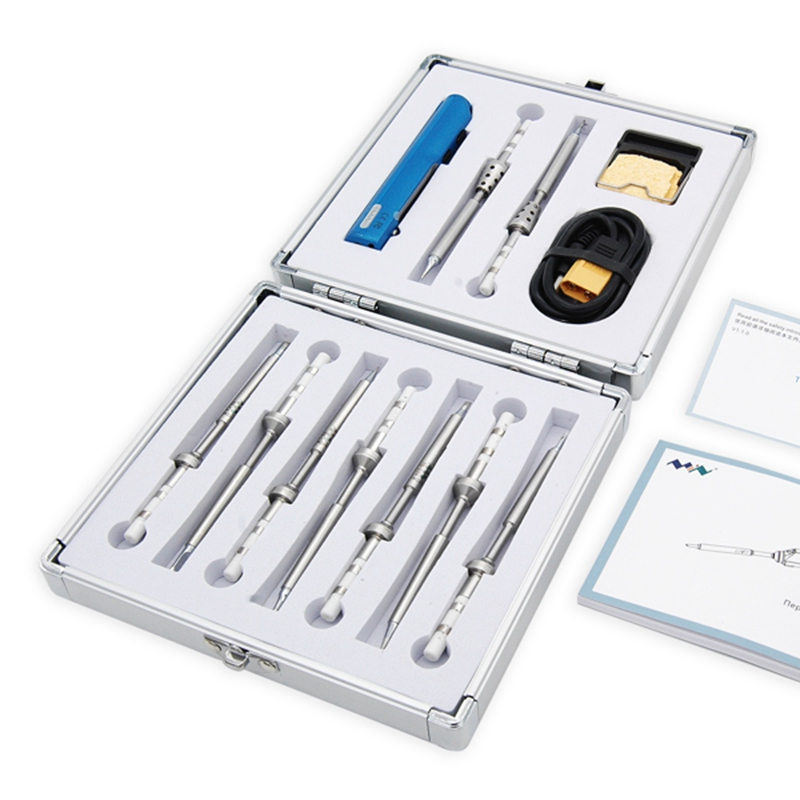 New Arrival 2018 12 In 1 TS100 Soldering Iron Kit With 9pcs Tips 1pcs XT60 Cable 1pcs Holder High Quality Soldering Iron Set new arrival iron