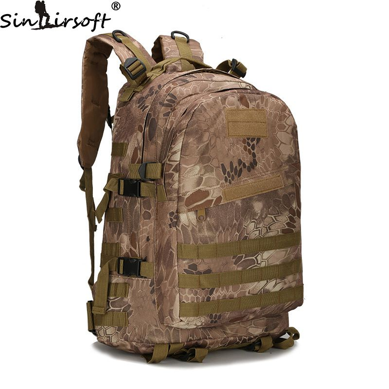 SINAIRSOFT Mountaineering Tactics Backpacks 3D Military Nylon Waterproof Male Backpack Army Camouflage Travel School Bag outdoors waterproof nylon backpacks molle tactics backpacks laptop backpacks military backpack rucksacks travel bag pack