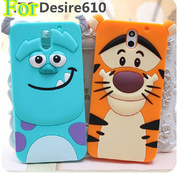 HTC Desire 610 Case Hot 3D Sulley Tiger Cat Soft Sillicon Cartoon cases cover - Julian's Department Store store