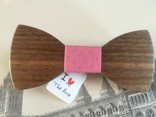DIY Wood heart drawing bow tie butterfly bowknot mens tie corbatas wooden bow tie