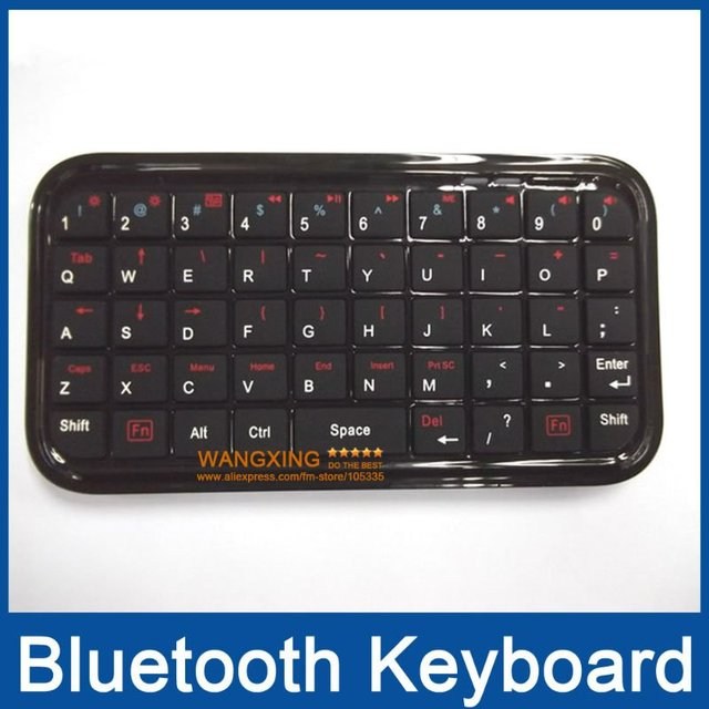 Bluetooth Keyboard,Wireless Mini Ultra Slim Bluetooth Keyboards for Smartphone PC PS3,Wholesale Retail,Free Shipping