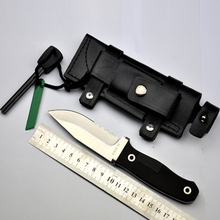 Fixed Blade knives G10 Handle Survival knife Hunting knife camping tool Saw Half Knife +Leather Sheath +Free Flintstones