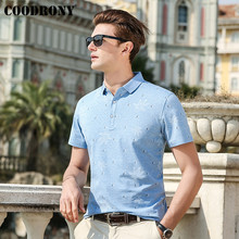 COODRONY Spring Summer New Business Casual Mens T-Shirts Famous Brand Tshirt Cotton T Shirt Men Short Sleeve T-Shirt S95052