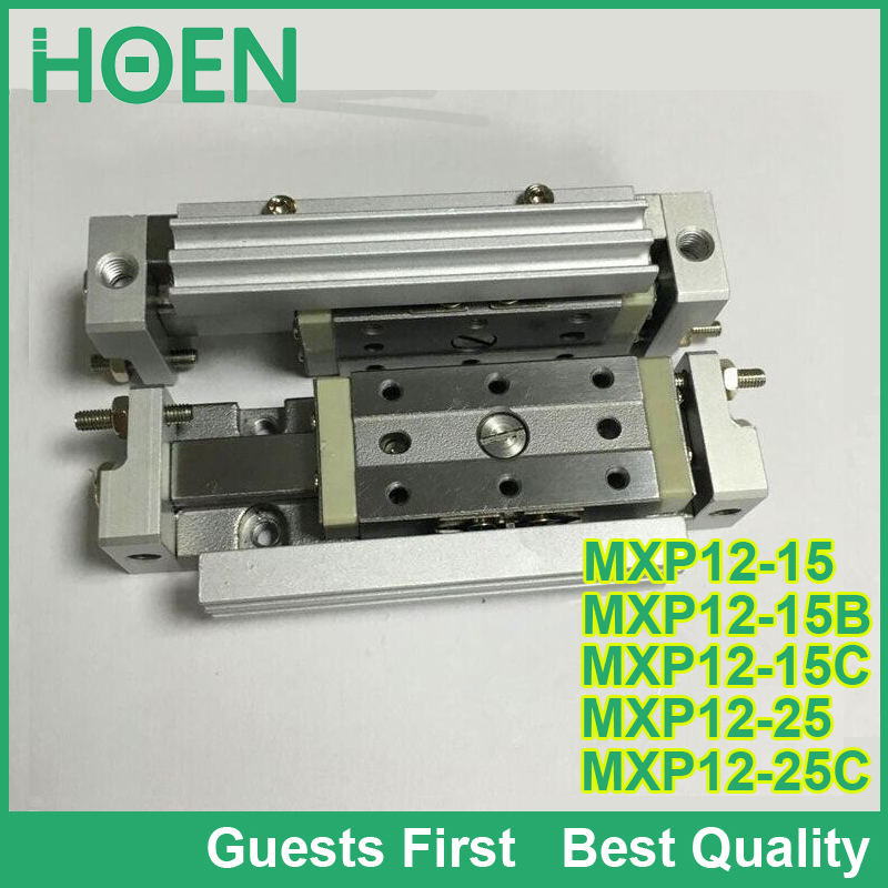 MXP12-15 MXP12-15B MXP12-15C MXP12-25 air slide table MXP series air slide table pneumatic cylinder double acting cylinders mxh10 25 mxh series double acting air slide table smc type mxh10 25 with high quality