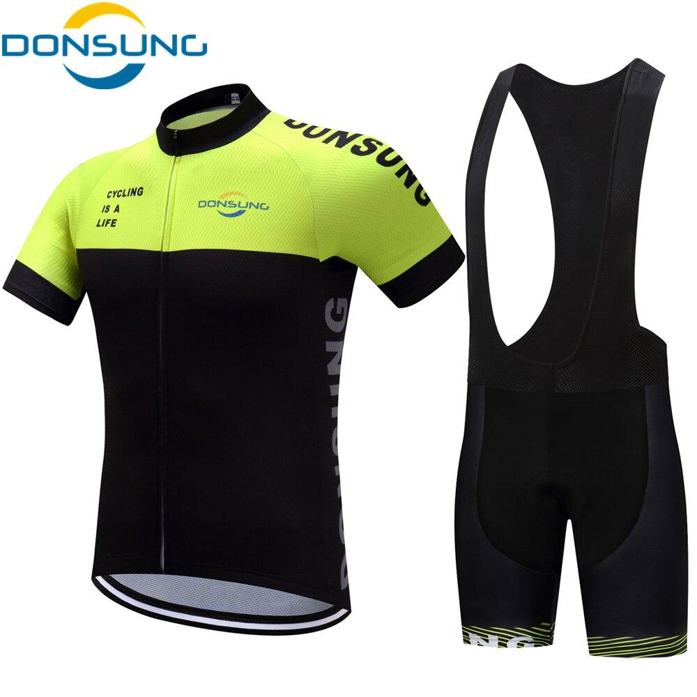 DONSUNG 2019 Pro Erkekler Bisiklet Seti Nefes MTB Giysi Çabuk Kuruyan Bisiklet Yaz Spor Bisiklet Bisiklet Jersey Ropa Ciclismo