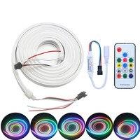 Addressable WS2812B pixel Neon strip light individually Full Color 5V LED band stripe neon light 2m/lot +Power Supply Controller