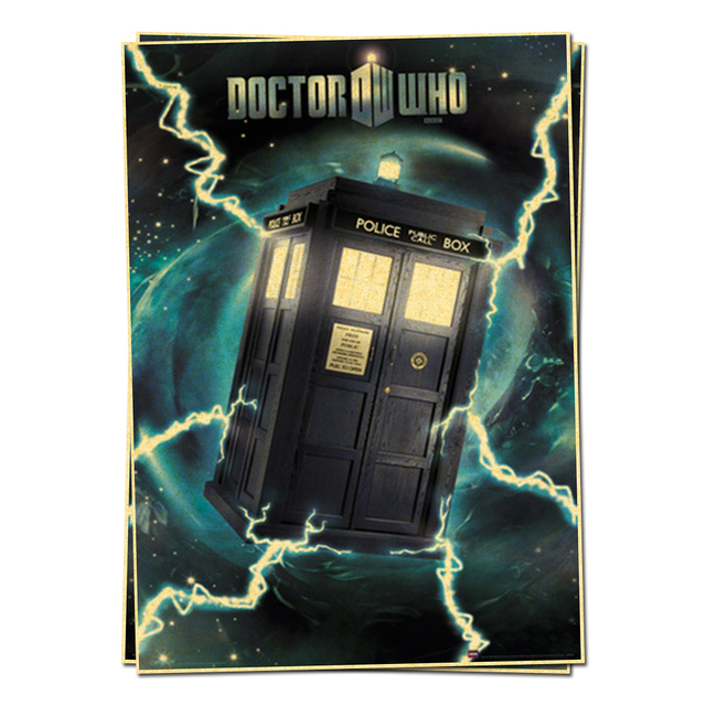 Doctor Who Tardis Metallic Poster Television Posters Retro Vintage Home Decor Adornment Character Wall Sticker