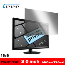 20 inch Computer Privacy Screen Protector Anti-glare Film Privacy Filter for all 16:9 Widescreen Monitor(China (Mainland))