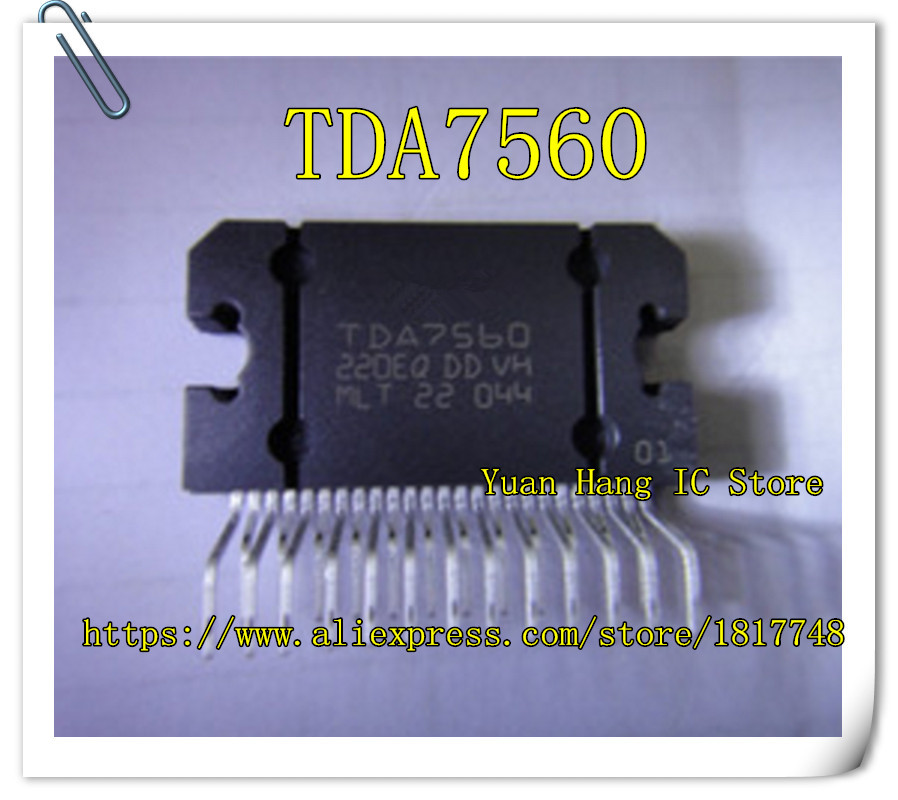 цена на 5PCS/LOT TDA7560B  TDA7560 7560 Car Audio chip  ZIP-25 IC Free Shipping