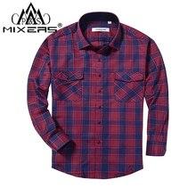 2018 primavera otoño 2 bolsillo en el pecho de los hombres Camisa de  franela a cuadros de manga larga Regular Fit camisa Casual . ff81c0ab305