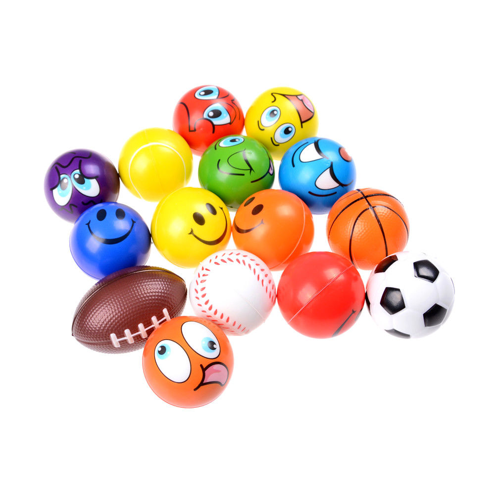4 Styles Outdoor Activities Entertainment Children PU Kids Toys Soft Laugh Face Basketball Antistress Balls Toys