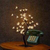 身長45センチクリスタル桜の木ライト48 ledクリスマス妖精ウェディング装飾屋内テーブルランプルミナリアスナイトライト