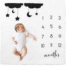 Для новорожденных веху номер; с узором из облаков с коврик Одеяло фотография фон для студийного фона