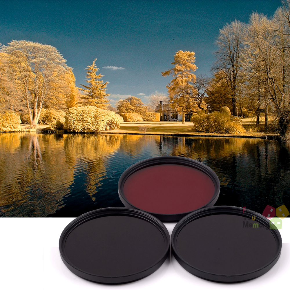 52mm 630nm+720nm+760nm Infrared IR Optical Grade Filter for Canon Nikon Fuji Pentax Sony Camera Lenses