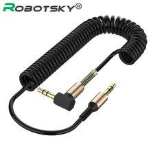 3.5mm kabel Audio 3.5 Jack męski na męski kabel Aux wiosna kod słuchawkowy dla samochodu Xiaomi redmi 5 plus Oneplus LG Samsung Galaxy