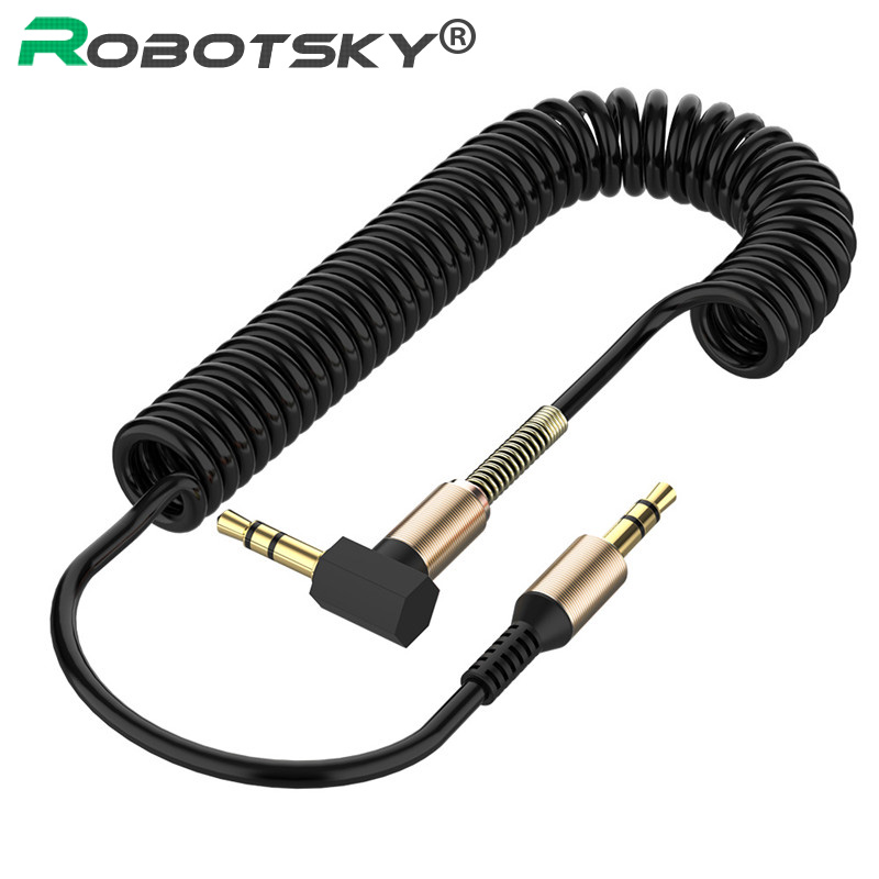 3.5mm câble Audio 3.5 Jack mâle à mâle Aux câble ressort casque Code pour voiture Xiaomi redmi 5 plus Oneplus LG Samsung Galaxy