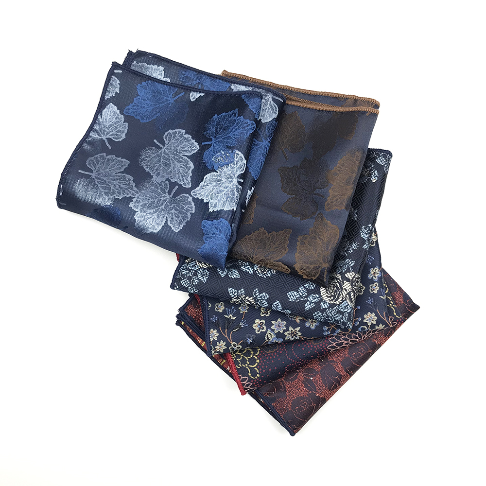 2019 New Arrived 100% Polyester Woven Pocket Squares For Men Matching Necktie Bowtie Available