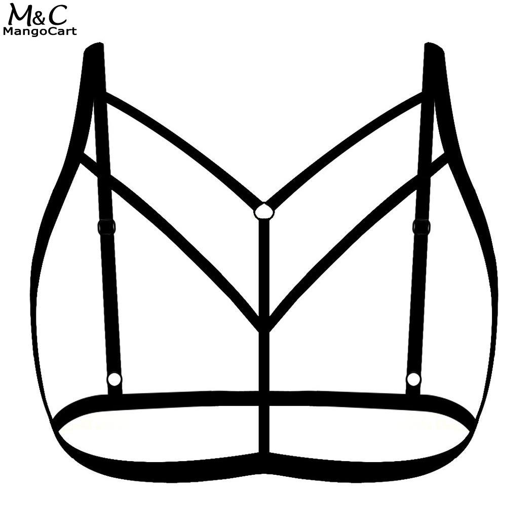 Stretchy Solidy Harness Women Bandage Straps Bra In