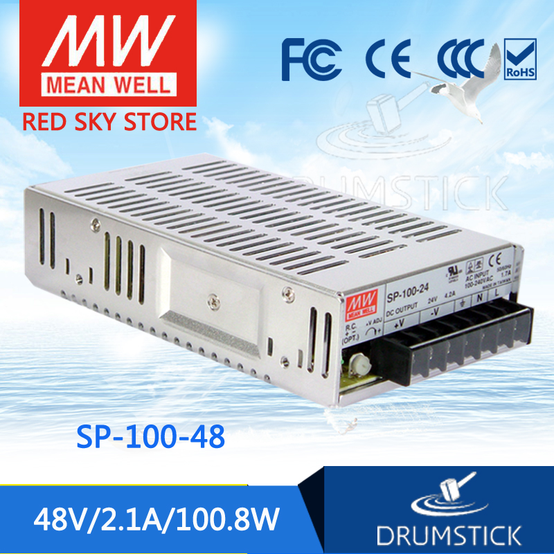 Selling Hot MEAN WELL SP-100-48 48V 2.1A meanwell SP-100 48V 100.8W Single Output with PFC Function Power Supply selling hot mean well epp 300 48 48v 6 25a meanwell epp 300 48v 300w single output with pfc function