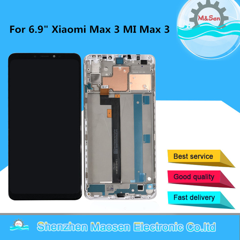 Original M Sen For 6 9 Xiaomi Max 3 MI Max3 LCD Screen Display With Frame