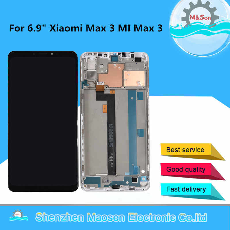 "Original M&Sen For 6.9"" Xiaomi Max 3 MI Max3 LCD Screen Display With Frame And Touch Panel Digitizer For Xiaomi Mi Max 3 Display"