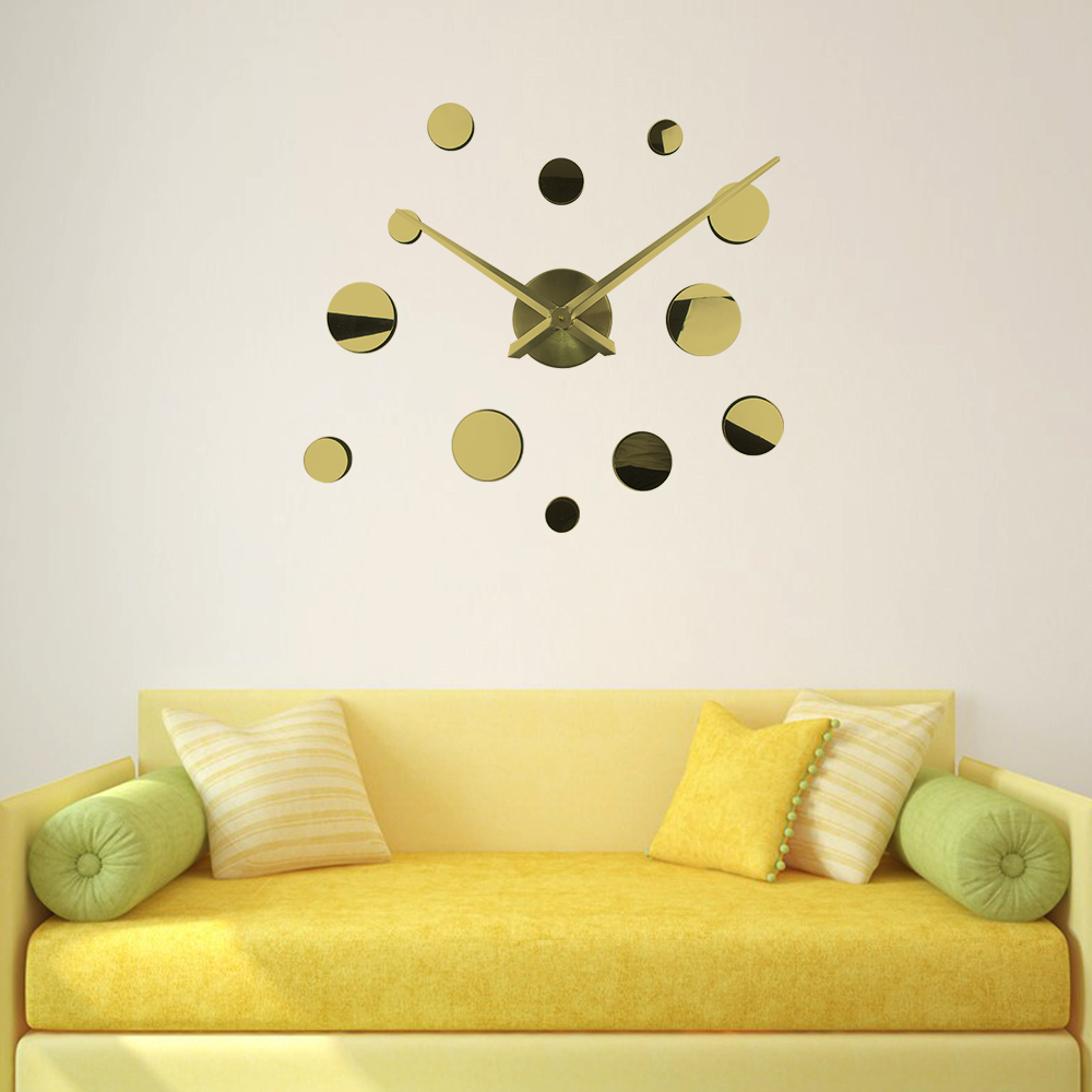New DIY 3d Home Decoration Wall Clock Mirror Large wall clock 3d ...