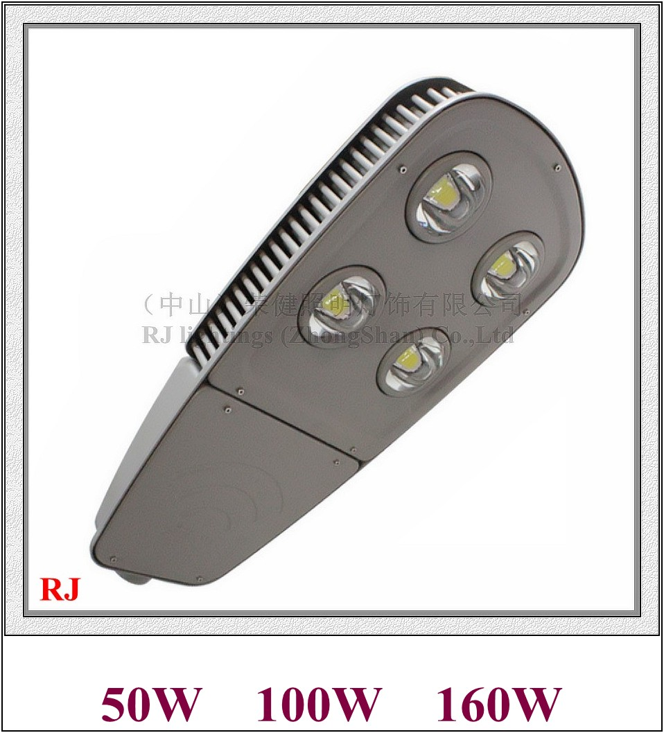 цена New design LED street light lamp LED road light IP65 50W / 100W / 160W AC85V-265V input cylinders radiator style RJ-LS-L