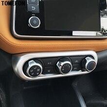 Для Nissan пинает 2017 ABS Chrome углерода Волокно Краски кондиционер переключатель доска крышка отделка под давлением авто Стайлинг автомобиля Интимные аксессуары