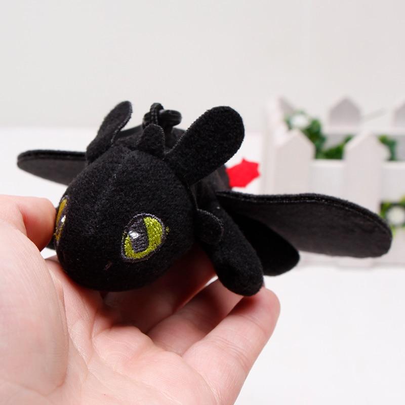 15cm Toothless Night Fury Plush Pendant How To Train Your Dragon Toothless Light Fury Keychain Dragon Stuffed Plush Toy