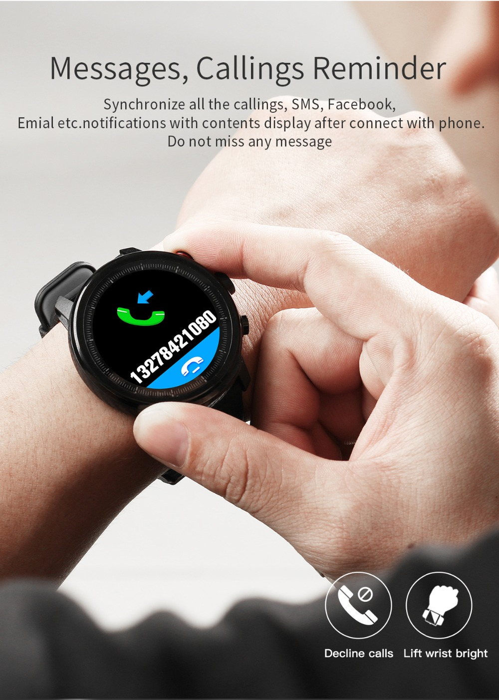LEMFO L5 IP68 Waterproof Smart Watch For Men With Sports Mode Heart Rate Monitoring And Weather Forecast 13