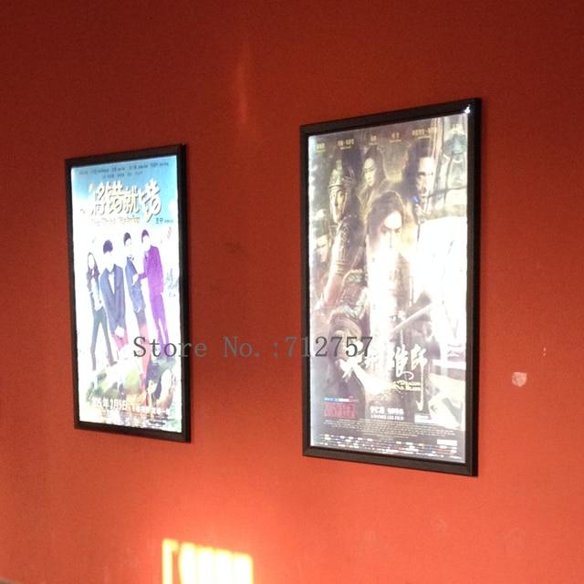 5pcs led light movie poster frame 24x36 new lightbox display black aluminum frames - Movie Poster Frames