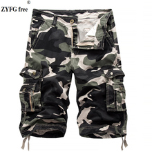 ZYFG free men shorts camouflage middle waist casual overalls loose cotton blend manwear spring and summer shorts casual camouflage pattern middle waisted shorts