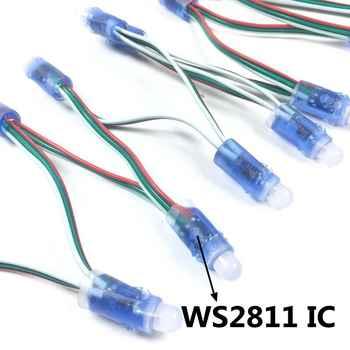 5000pcs 12mm WS2811 2811 IC Full Color Pixel LED Module Light DC 5V input IP68 waterproof RGB color Digital LED Pixel Light - DISCOUNT ITEM  25% OFF All Category