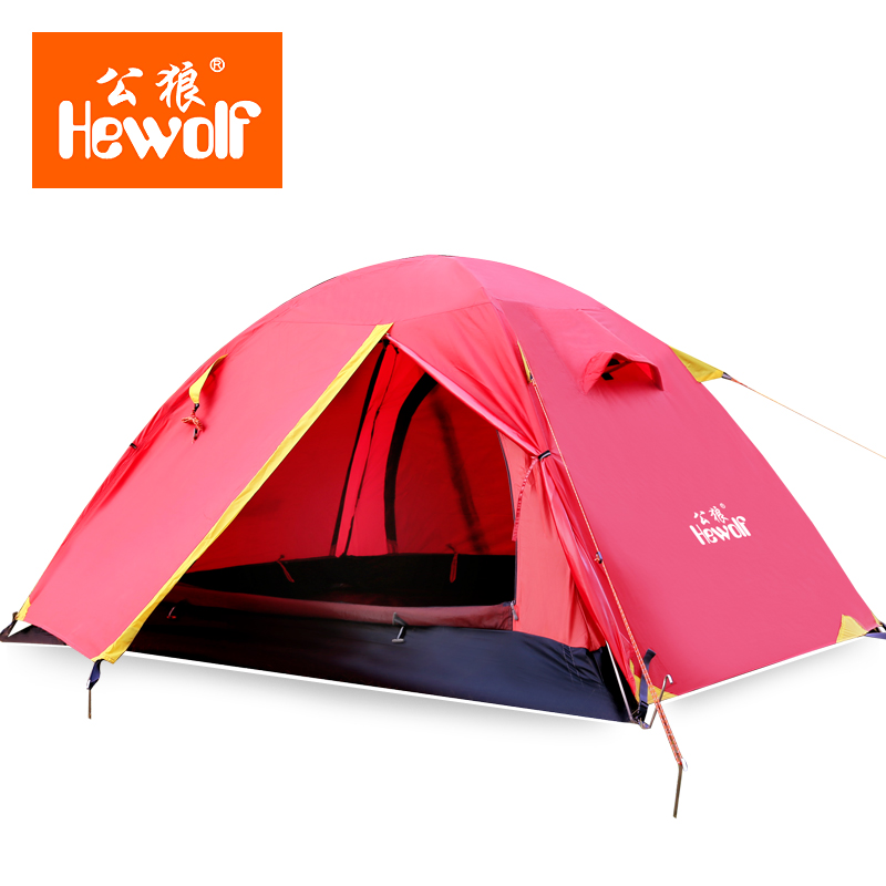 Premium Hewolf Aluminum Four Seasons Upgraded Tent Double Double Outdoors Professional C&ing Anti Rainproof Tent-in Tents from Sports u0026 Entertainment on ...  sc 1 st  AliExpress.com & Premium Hewolf Aluminum Four Seasons Upgraded Tent Double Double ...