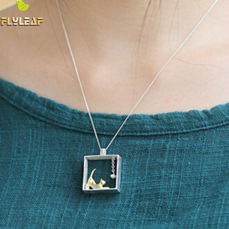 Flyleaf 100% 925 Sterling sølv katte halskæder & vedhæng til - Mode smykker - Foto 2