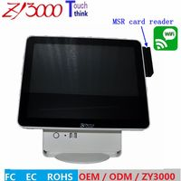 new stock I5 4310u DDR 8G Msata 128G SSD WIFI 15 inch capacitive touch Screen all in one POS Terminal With MSR card reader
