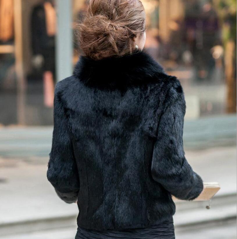 Imitation Nouvelle Manteau Court Blanc Minceur De Slim 2018 Version noir D'hiver Velours Automne Coréenne Et Renard La Fourrure H1xtwqfIt