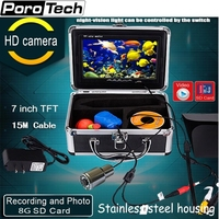 SY703 15M Original 7 Video Fish Finder 1000TVL Lights Controllable Underwater Fishing Camera Kit Ice Lake Under Water fish cam