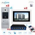 7 ''Touch Screen WIFI IP Video Tür Sprechanlage 2 Etagen 2 Türen Gebäude Access Control System Unterstützung Passwort /IC Karte/POE-in Videosprechanlage aus Sicherheit und Schutz bei