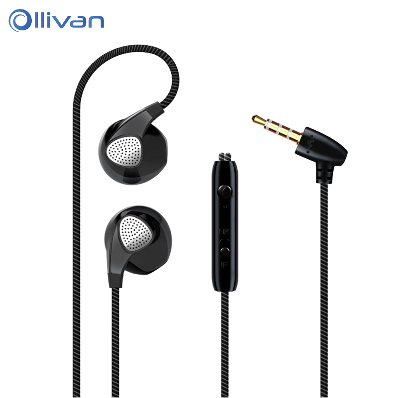 OLLIVAN Stereo music Earphone BASS in-Ear Earphone Active Noise Cancelling Headsets DJ Earbuds HiFi Earphone for Mobile Phone kz zs1 supr bass stereo sound music earphone noise cancelling earphone in ear style wired earphone with mic for mobile phone