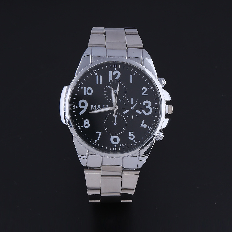 100% New Mens Quartz-watch Stainless Steel Band Analog Watches Slim Men Watches Sports Wristwatches 8024 OP001