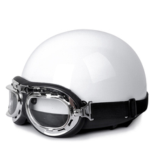 New Vintage Style motorcycle Motor Scooter Riding Helmet Open Half Face Helmet Capacete & Visor & Goggles for Men Women