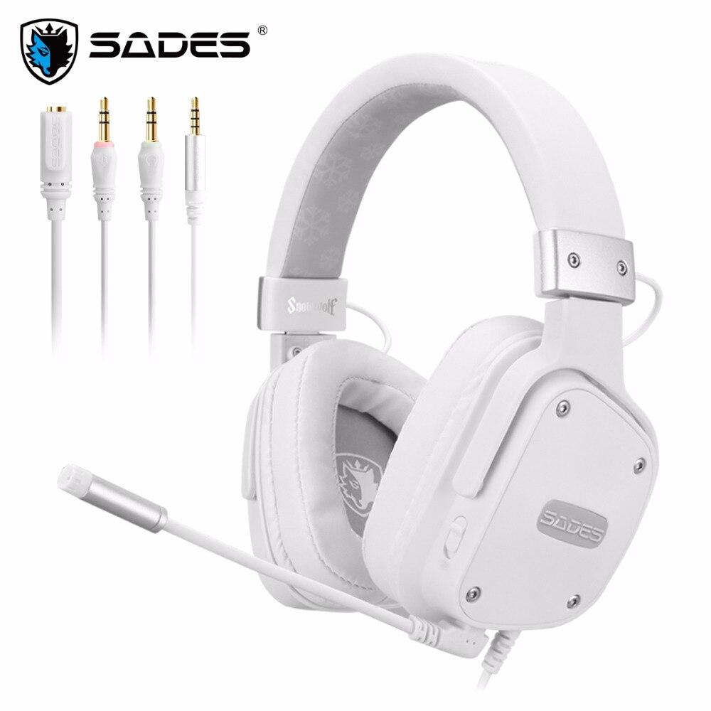 SADES Snowwolf Gaming Headset Casque 3.5mm Pour PC/ordinateur portable/PS4/Xbox Un (2015 Version) /Nintendo Commutateur/VR/Mobile