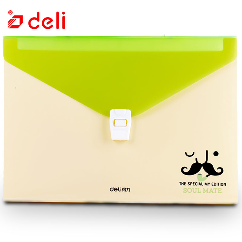 Deli Mini Expanding File High capacity A4 Folder Document Office File Folders Portable Paper Bag Organizer School Office Supply deli canvas file folder document bag business briefcase a4 paper storage organizer bag stationery school office supplies student