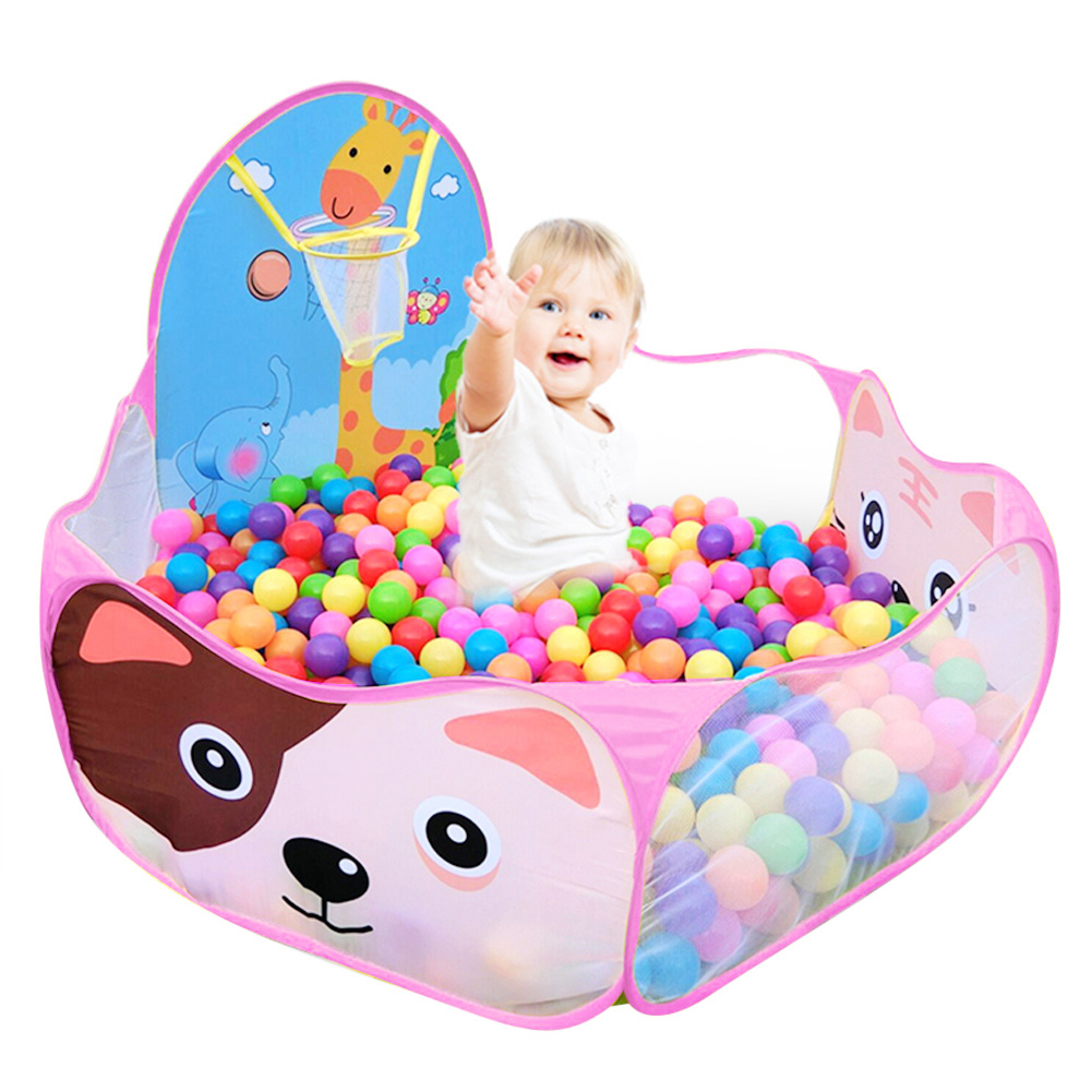 Baby Kids Play Tent Portable Foldable Children Tent Eco-Friendly Ocean Balls Pool Game Tents Great Gift Games Play Without Ball