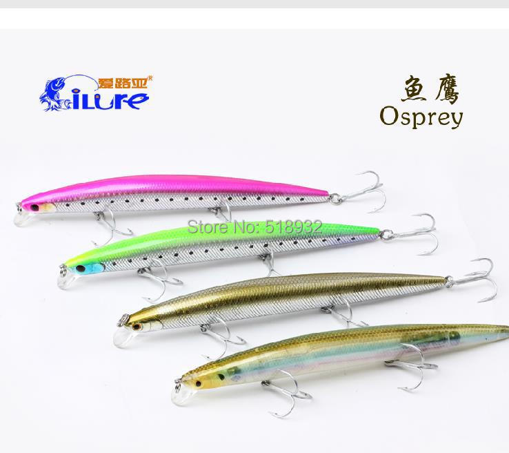 top quality Ossifier AD175 minnow 30g 175mm artificial lure Fishing Lures hard plastic lure 4pcs lot