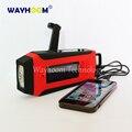 Manivela Cargador de Teléfono Solar Power AM/FM/NOAA Radio Con Linterna Super Brillante