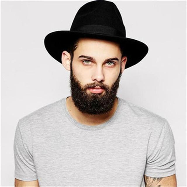 100% Wool Wide Brim Winter Autumn Men Floppy Felt Trilby Bowknot Fedora Hat  For Gentleman Top Cloche Panama Hat 3badf7bf967